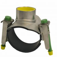 Tapping saddle, stainless steel