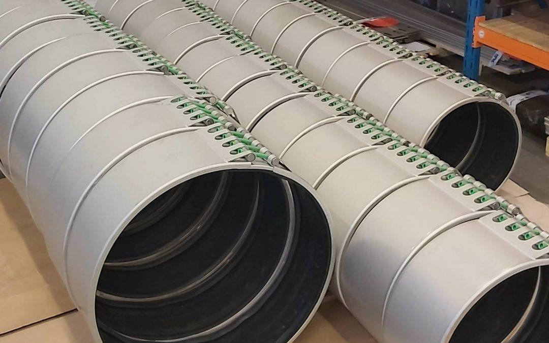 Big Repico®repair couplings DN1200 for the Middle East